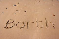 Borth auf Sand Stockbilder