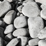Borth Beach Stones 2. Borth beach stones, close up photograph of some of the stones on Borth beach in Mid Wales, large medium and small stones or pebbles Stock Image