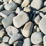 Borth Beach Stones 3. Borth beach stones, close up photograph of some of the stones on Borth beach in Mid Wales, large medium and small stones or pebbles Stock Photo