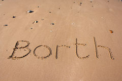 Borth on sand Stock Images