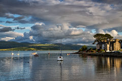 Borth y Gest. Situated on the edge of the River Glaslyn, the seaside village of Borth y Gest lies just over a mile south of Porthmadog. The village retains much stock images