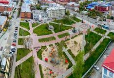Bortsov Revolyutsii Square in Tyumen, Russia Stock Images