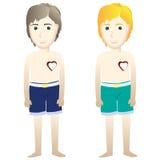 Borttappad hjärta för ung man (bruten hjärta) Arkivbild