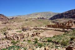 Borttappad stad av Petra, Jordanien Royaltyfria Bilder
