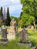 Borttappade gravar och gravstenar i Kalifornien Royaltyfri Foto