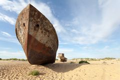Borttappat Aral hav Arkivbild