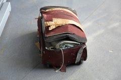 Borttappat bagage på flygplatsen royaltyfri fotografi