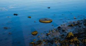 Borttappat i floden Arkivbild