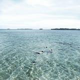 Borttappat i havet arkivbild