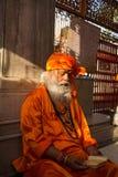 Borttappat i meditation Arkivfoto