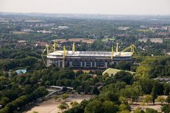 Borusseum stadium - aerial view Royalty Free Stock Photography