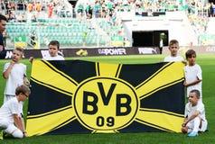borussia多特蒙德 BVB旗子 免版税库存图片