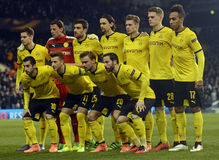 Borussia Dortmund line up Royalty Free Stock Image