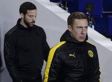 Borussia Dortmundfotbollsspelare royaltyfria bilder