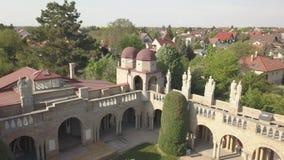 Bory Var, behagfull slott som byggs av en man Bory Jeno i Szekesfehervaren, Ungern arkivfilmer