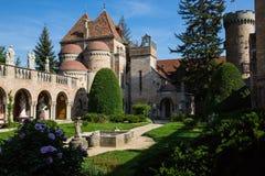 Bory Var, bevallig die kasteel door de één mens Bory Jeno in Szekesfehervar wordt gebouwd, Hongarije royalty-vrije stock afbeeldingen