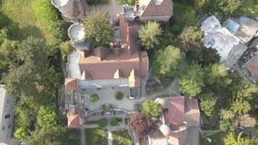 Bory Var, castillo agraciado construido por un hombre Bory Jeno en el Szekesfehervar, Hungría almacen de metraje de vídeo