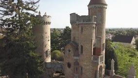 Bory varietà, castello grazioso costruito dall'un uomo Bory Jeno nello Szekesfehervar, Ungheria archivi video