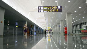 Boryspil Airport, passengers Inside Of the buildin stock video footage