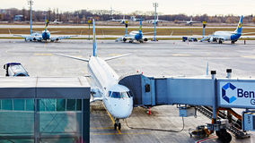Boryspil, Ukraina Samolotu Zmielony Obchodzić się Zdjęcie Stock