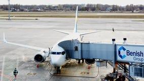 Boryspil, Ukraine Assistance en escale d'avions Images stock