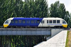Railbus Pesa Kyiv Boryspil Express stock photos