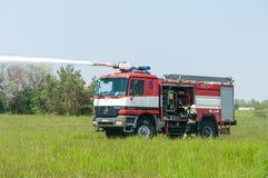BORYSPIL, UKRAINE - MAI, 20, 2015: Feuer-Brigade an Lizenzfreie Stockfotografie