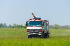 BORYSPIL, UKRAINE - MAY, 20, 2015: Fire-brigade on Stock Image