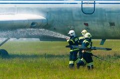 BORYSPIL, UKRAINE - MAY, 20, 2015: Firefighters Stock Photos