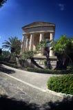 Borza Ta Malta,Valletta,Malta. Through arches, Upper Barracca Gardens Royalty Free Stock Images