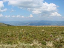 Borzhava bergskedja av de ukrainska Carpathiansna i den Transcarpathian regionen ukraine Sommar 2016 Royaltyfria Foton