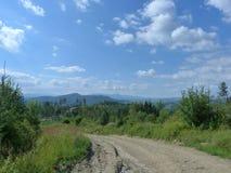 Borzhava pasmo górskie Ukraińscy Carpathians w Transcarpathian regionie Ukraina Lato 2016 Obrazy Stock