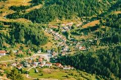 Bosättning i de Rhodope bergen royaltyfri foto