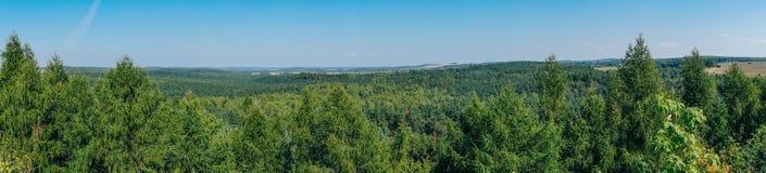 Bosättningen på monteringen Birow i Podzamcze Arkivbilder