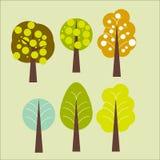 Bos abstracte bomen Stock Afbeeldingen