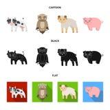 Bos, ecologie, speelgoed en ander Webpictogram in beeldverhaal, zwarte, vlakke stijl Dieren, landbouwbedrijf, ondernemingenpictog Royalty-vrije Stock Fotografie