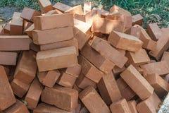 Bos of groep bakstenen voor de bouw of het construeren worden gebruikt, Chennai, Tamil nadu, India, 29 Januari 2017 die Stock Foto's