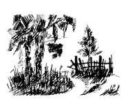 Bos, illustratie Stock Afbeelding