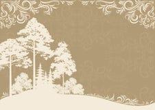 Bos landschap Royalty-vrije Illustratie