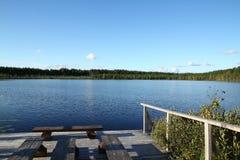 Bos meer Stock Foto