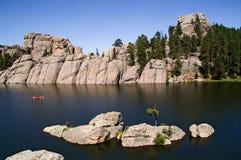 Bos- meer, Zuid-Dakota Stock Foto's