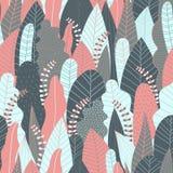 Bos naadloos patroon De achtergrond van het wildernispatroon voor druk Royalty-vrije Stock Afbeeldingen