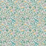 Bos naadloos patroon, paddestoelen, bessen en Stock Illustratie