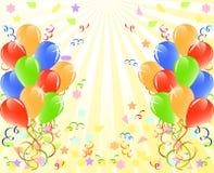 Bos van ballons met ruimte voor tekst. Stock Afbeeldingen