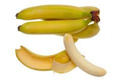 Bos van bananen die op witte achtergrond worden geïsoleerde stock afbeelding