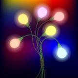 Bos van bloem-bollen stock illustratie
