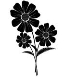 Bos van bloemen vector illustratie
