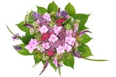 Bos van bloemen met hydrangea hortensia en lavendel Royalty-vrije Stock Afbeelding