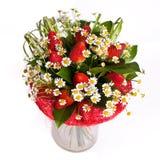 Bos van bloemen in vaas stock foto