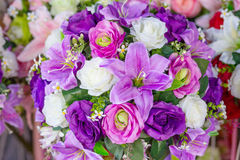 Bos van bloemen violette kleur royalty-vrije stock foto's